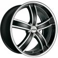 ANTERA 381 10x22 5x120 ET40 74,1 Diamond Black Front and Lip Polished